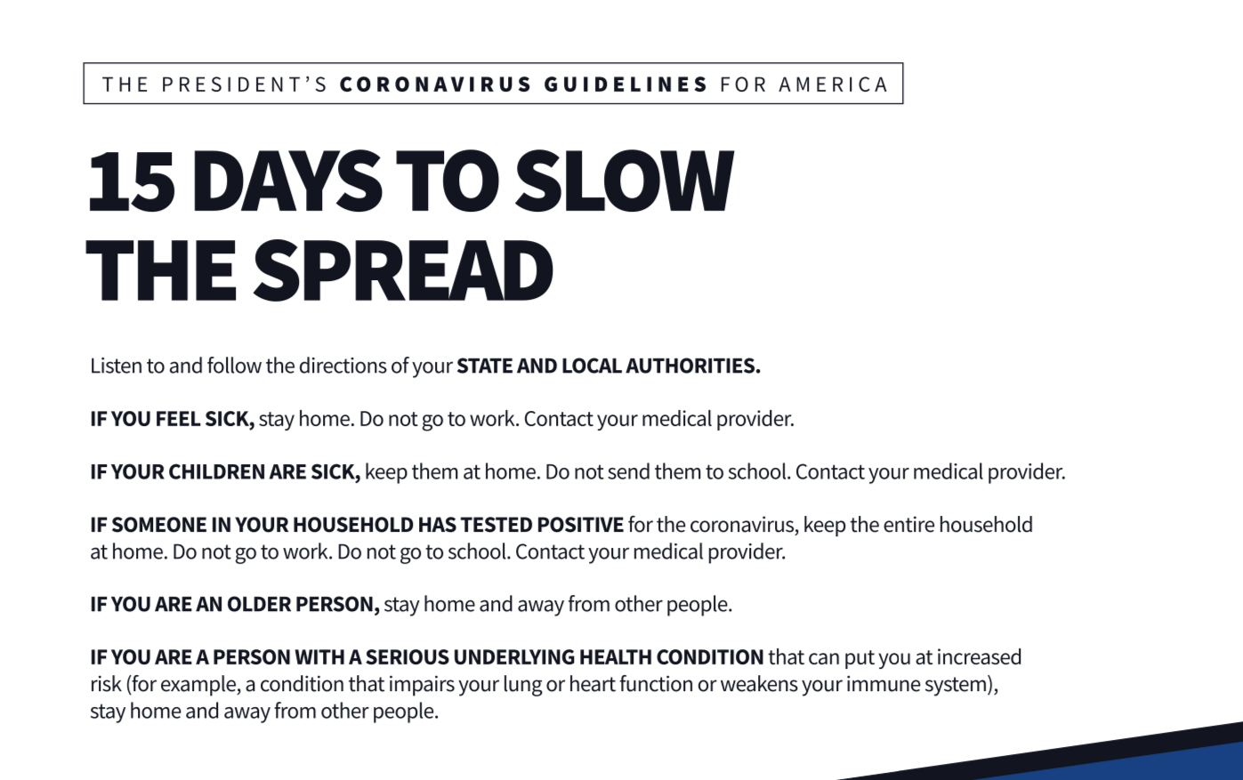 15 Ways to Slow the Spread