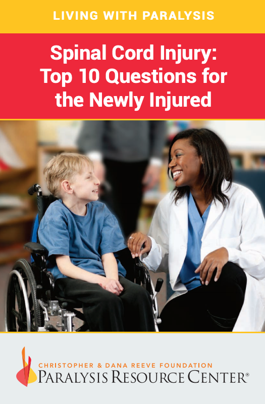 Spinal Cord Injury: Top 10 Questions for the Newly Injured booklet cover