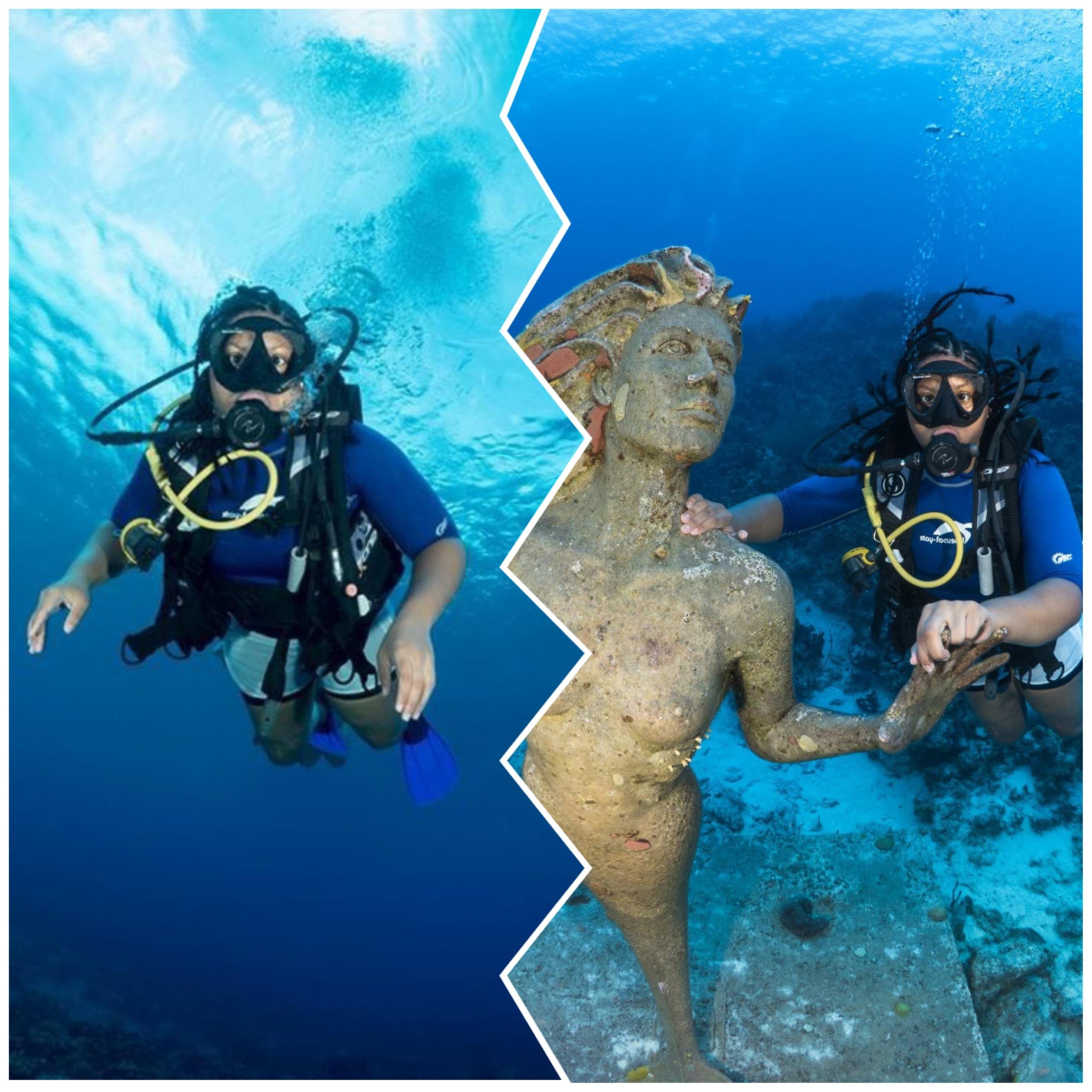 Johileny Meran scuba diving