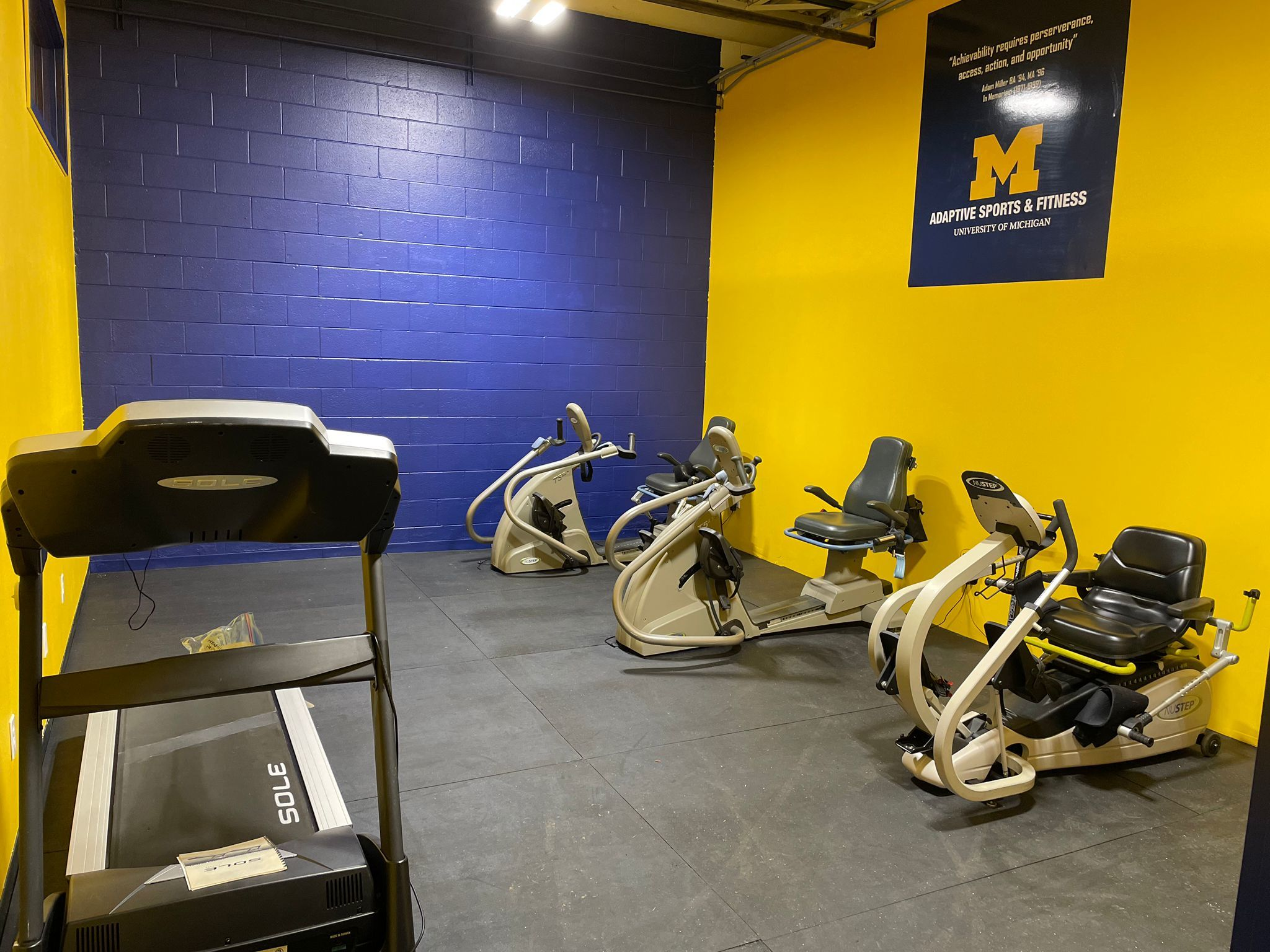 University of Michigan Adaptive Sports and Fitness Gym