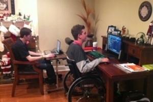 Jugar a los videojuegos con Cuadriplejía