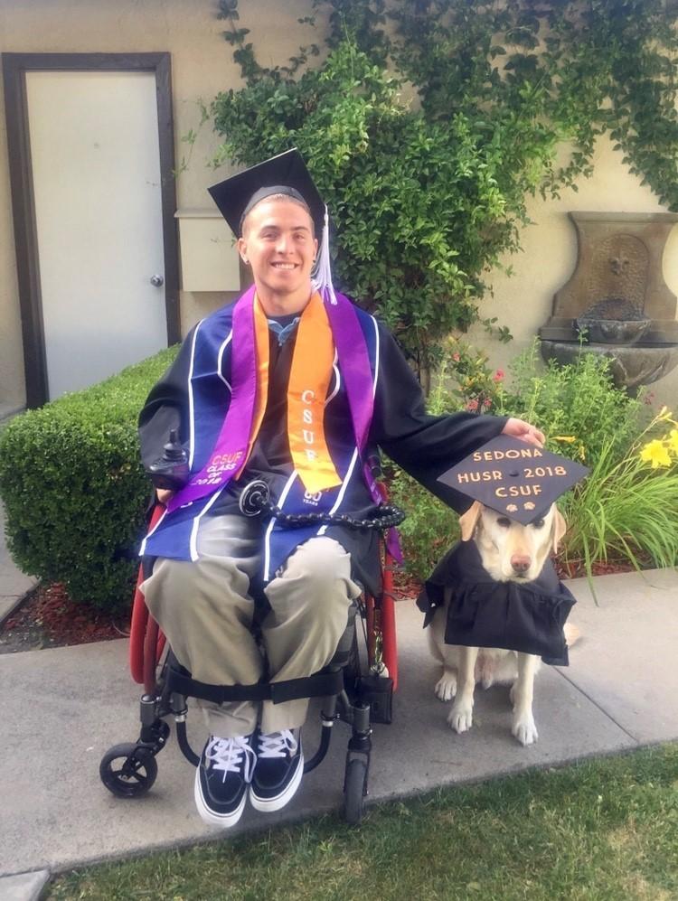 Zack and Sedona college graduation