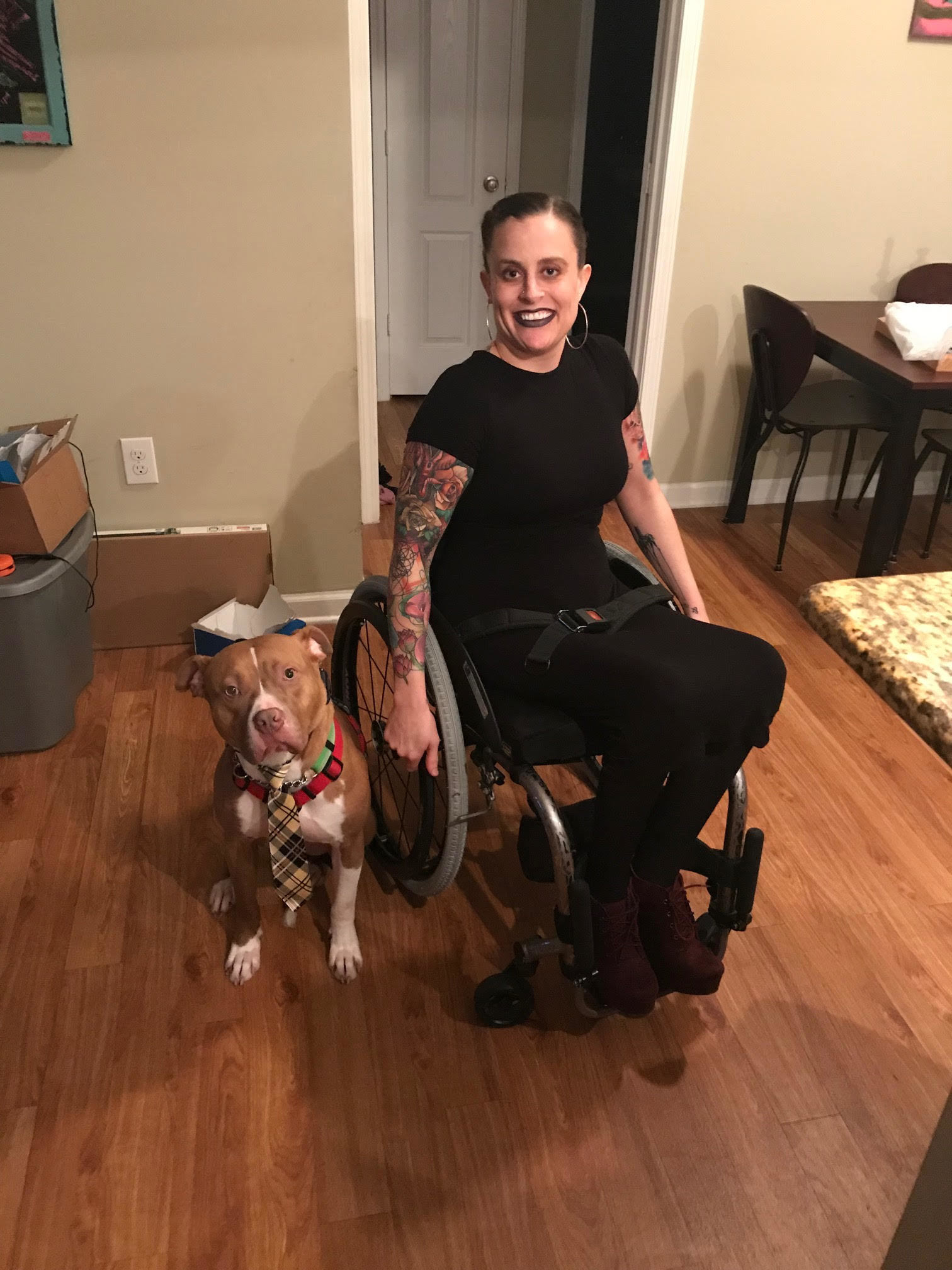 Courtney and her dog