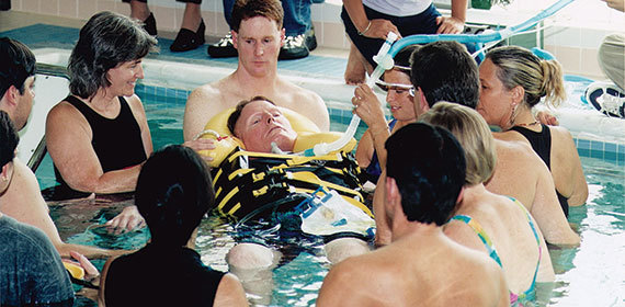 Christopher Reeve aquatic therapy