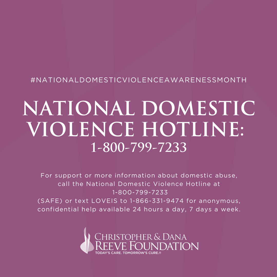 National Domestic Violence Hotline 1-800-799-7233