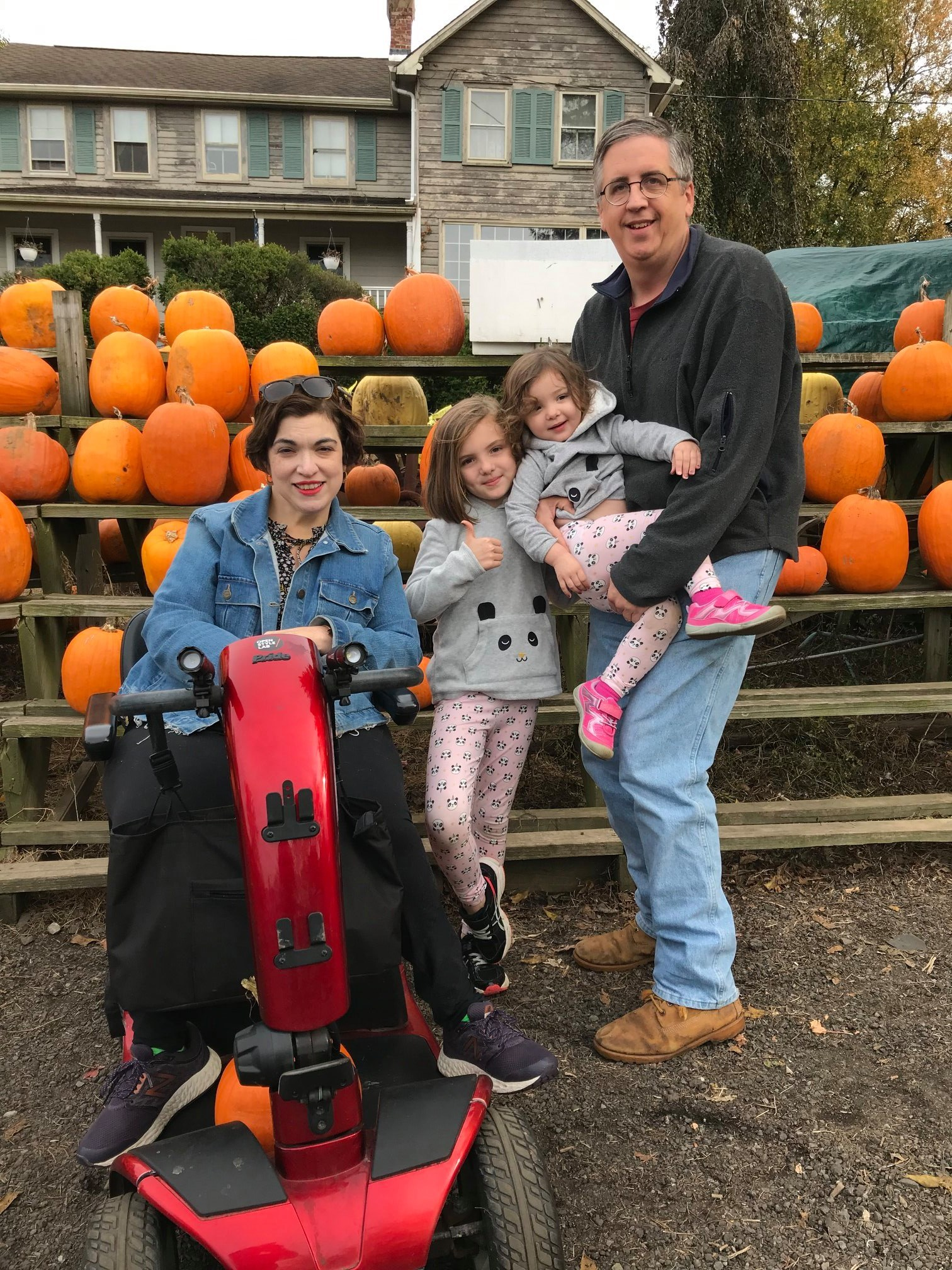 Kern family pumpkin picking