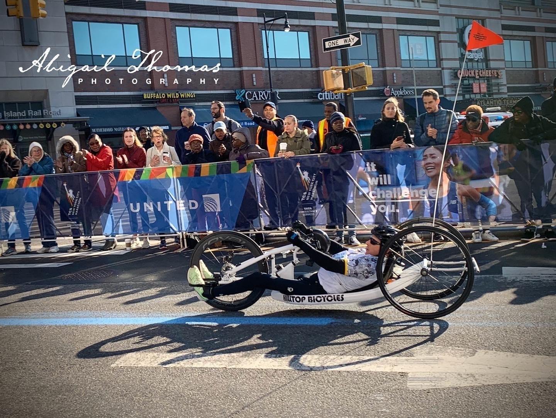 Dennis at the NYC marathon