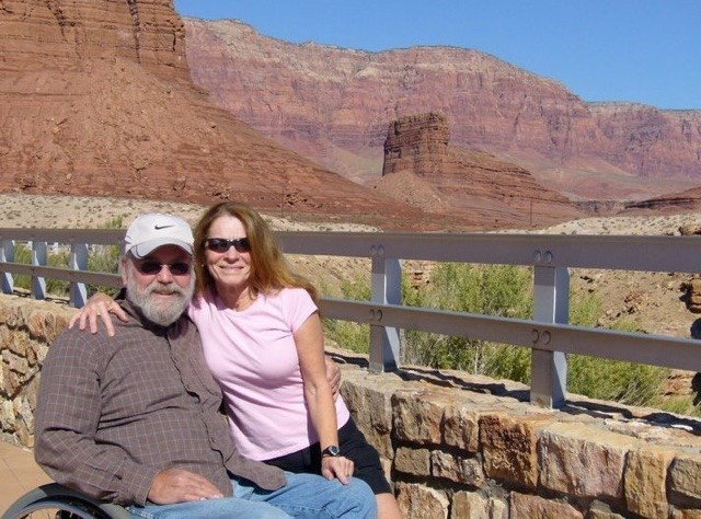 Tim and his wife traveling