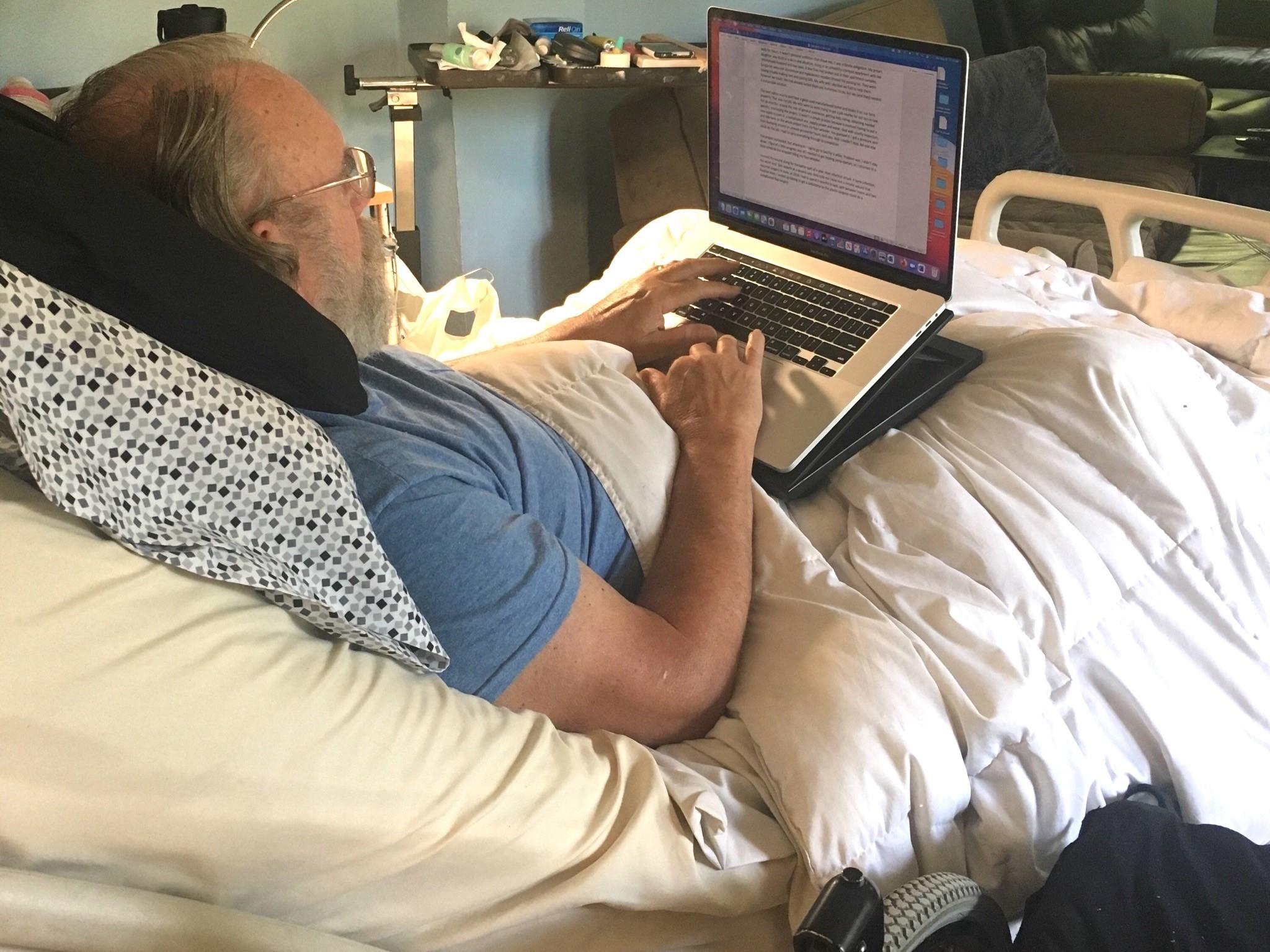 Tim writing