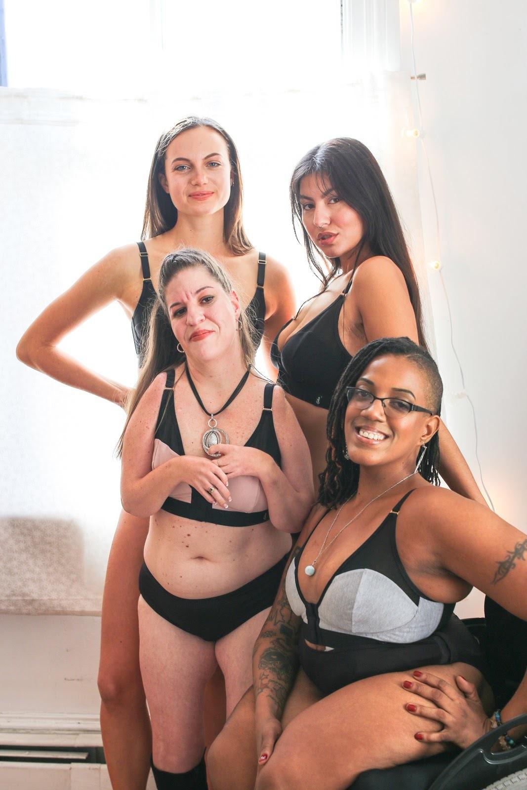 four women wearing Intimately