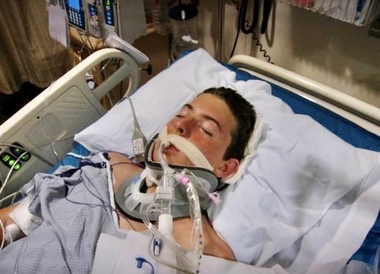Zack in the hospital bed
