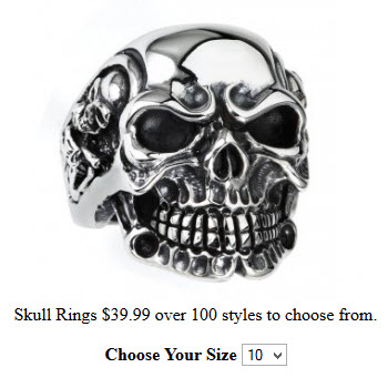 Biker Skull Jewerly