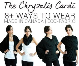 Chrysalis Cardi, multi-functional clothing