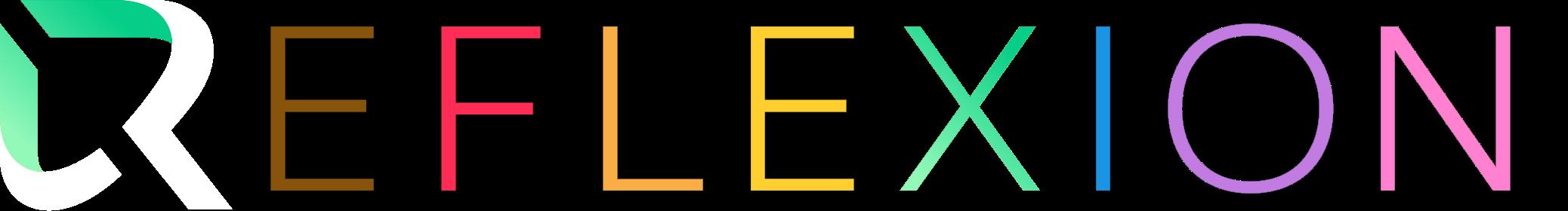 reflexion logo (pride variation)