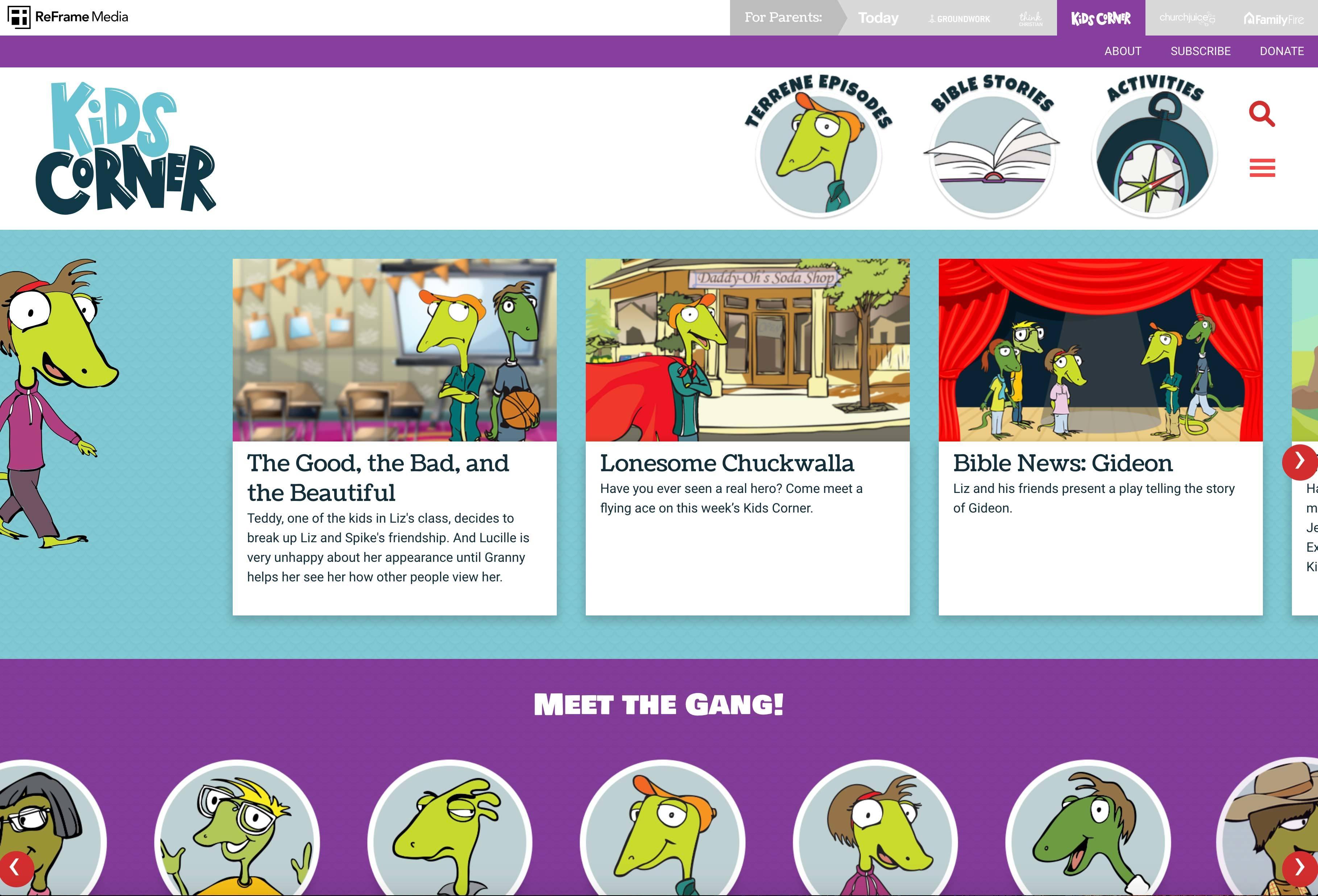 Kids Corner Gets a New Website
