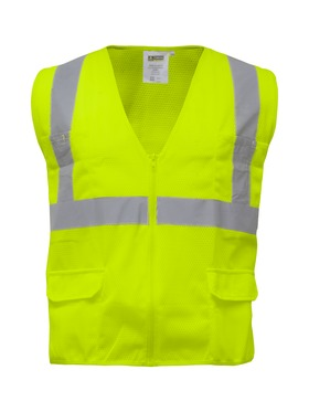 Zipper Mesh Safety Vest