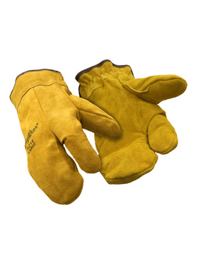 Three Finger Leather Mitt