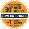 30 and above Fahrenheit Comfort Range
