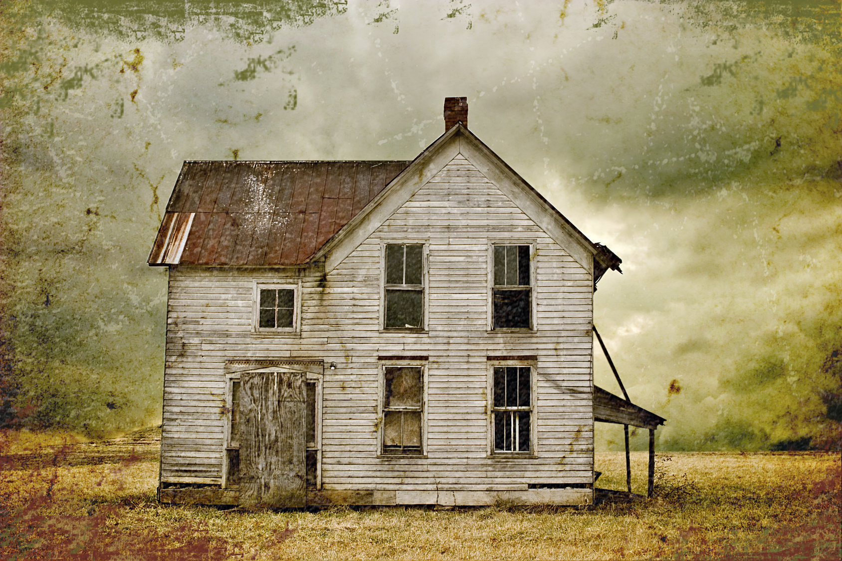 It is an image of Old Fashioned Abandoned House Drawing