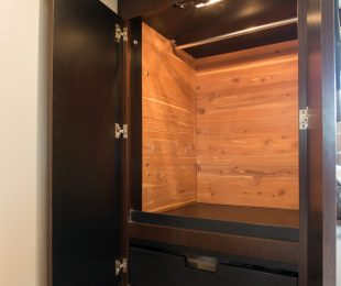 Cedar Lined Armoire with Storage Drawers Below