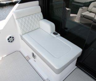 Aft Cockpit Lounge Seat with Salon Door
