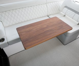 Teak Table in Cockpit