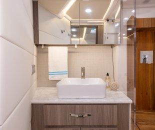 Vessel Sink with Vanity & Storage