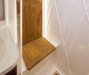 Teak Floor and Seat in Shower