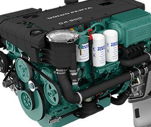 Twin Volvo D4 Diesel 300 OX EVC Joystick