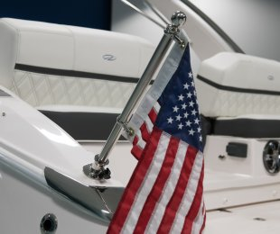 Flag Pole: Stainless Steel with U.S. Flag
