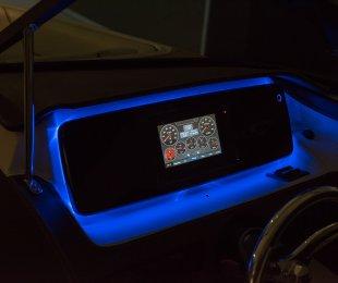 Blue Back-lit Dash