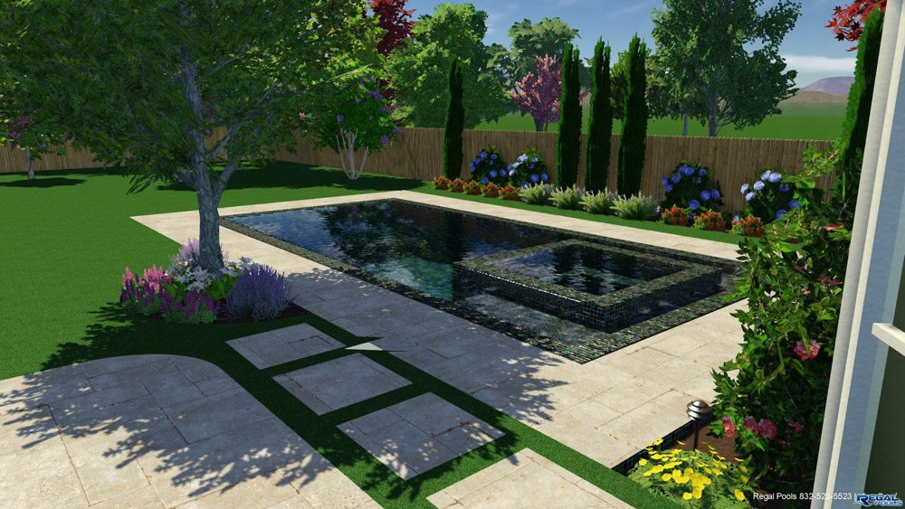 3d structure studios regal pools the woodlands tx for Pool studio 3d design