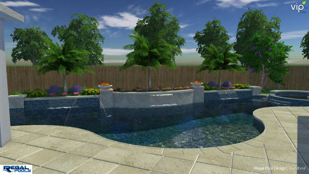 3d structure studios regal pools the woodlands tx for Pool design 3d
