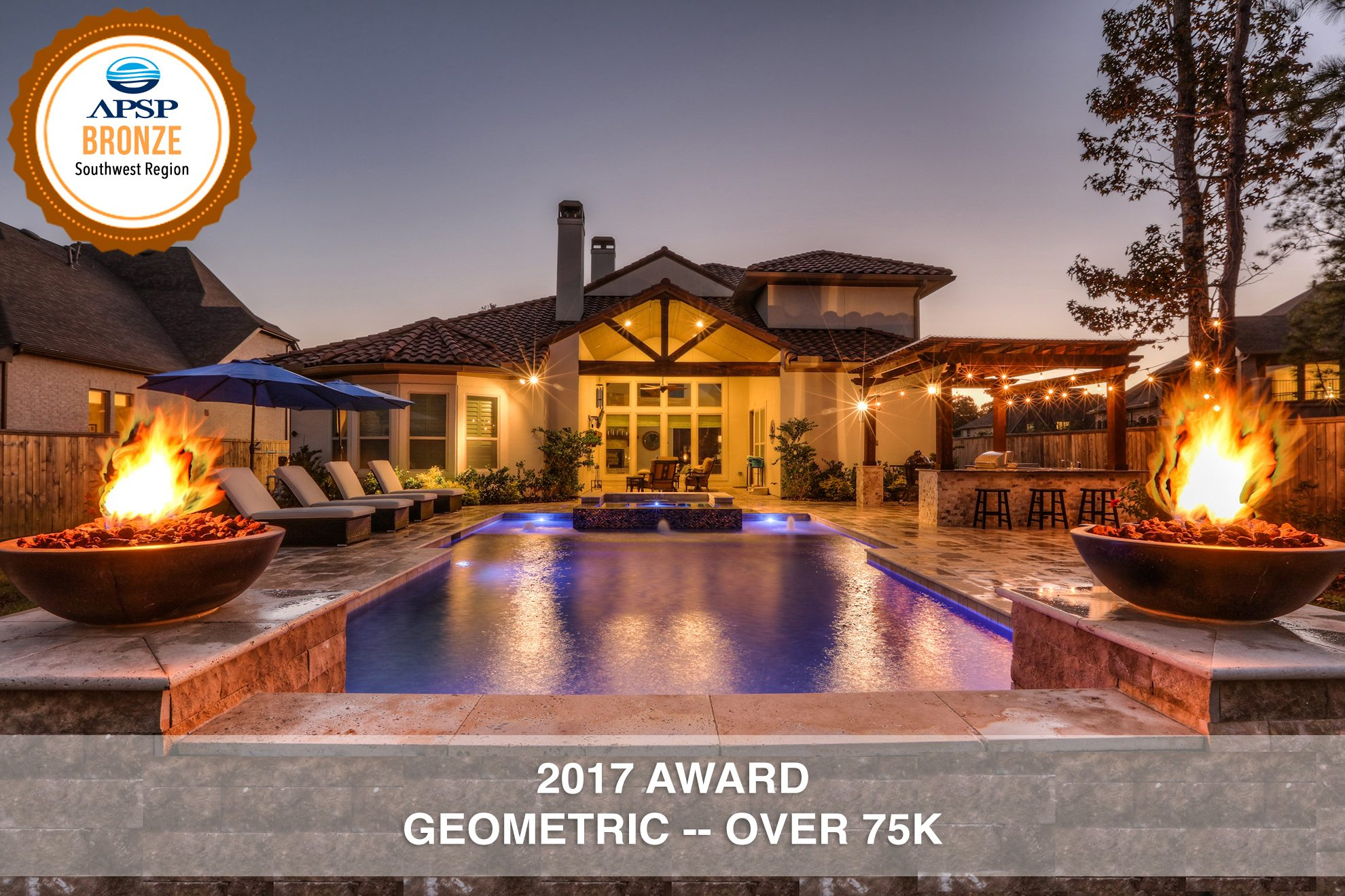 Awards recognition regal pools the woodlands tx for International pool and spa show 2016