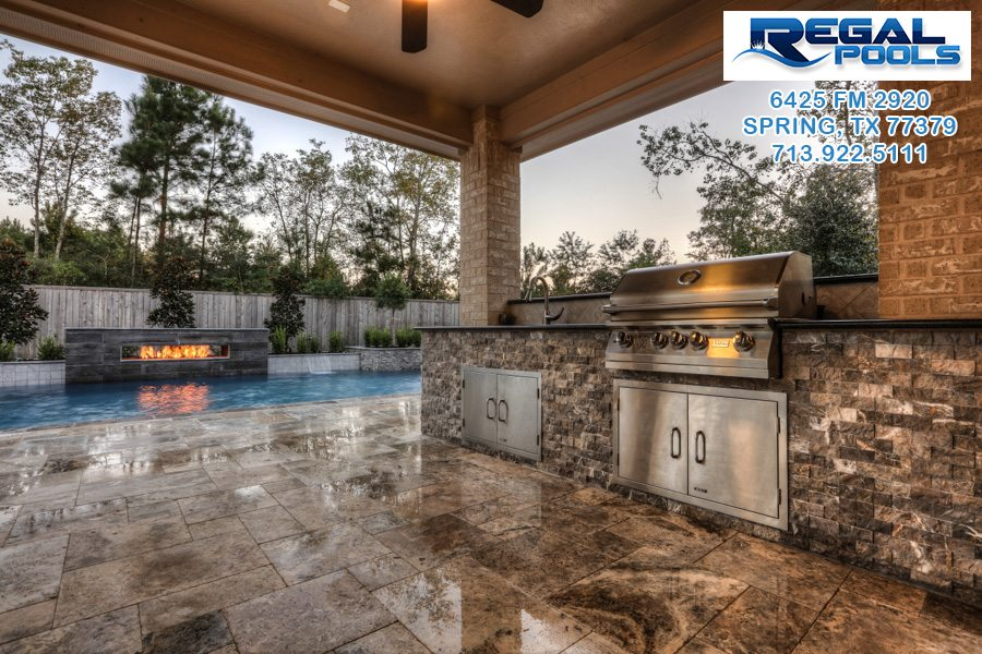 outdoor living spaces | regal pools | the woodlands tx