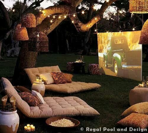 HOW TO HAVE THE BEST MOVIE NIGHT IN YOUR CYPRESS BACKYARD