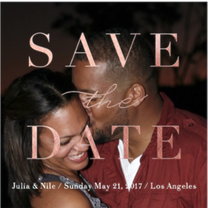 Julia & Nile Wedding Registry