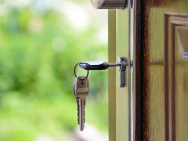 Keys in door