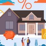 House loan concept. Vector flat cartoon graphic design illustration