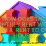 How Does The Monthly Rent Work With A Clarksville TN / Oak Grove KY Rent To Own House?