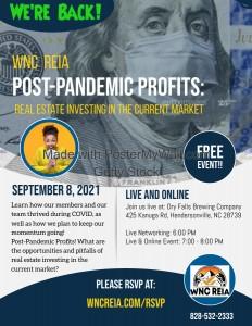 September 8 WNCREIA Meeting