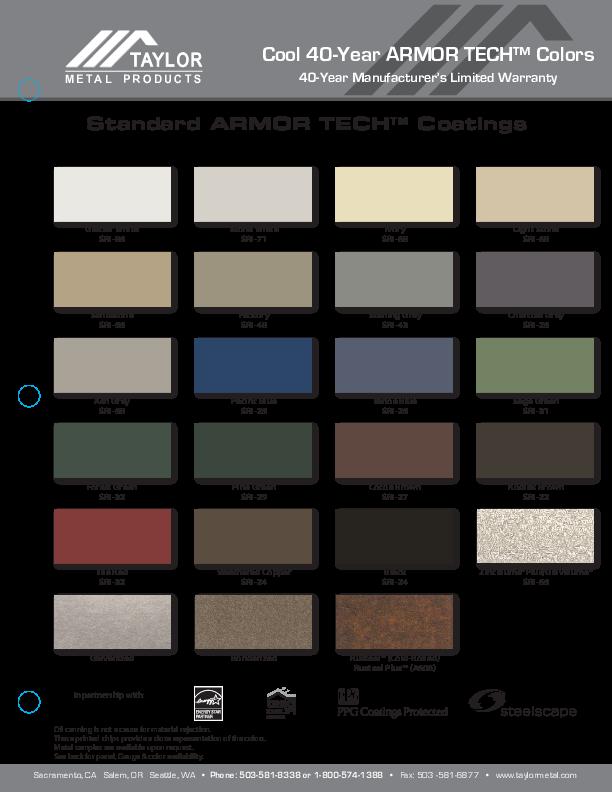 Mcelroy Metal Color Chart Colorpaints Co