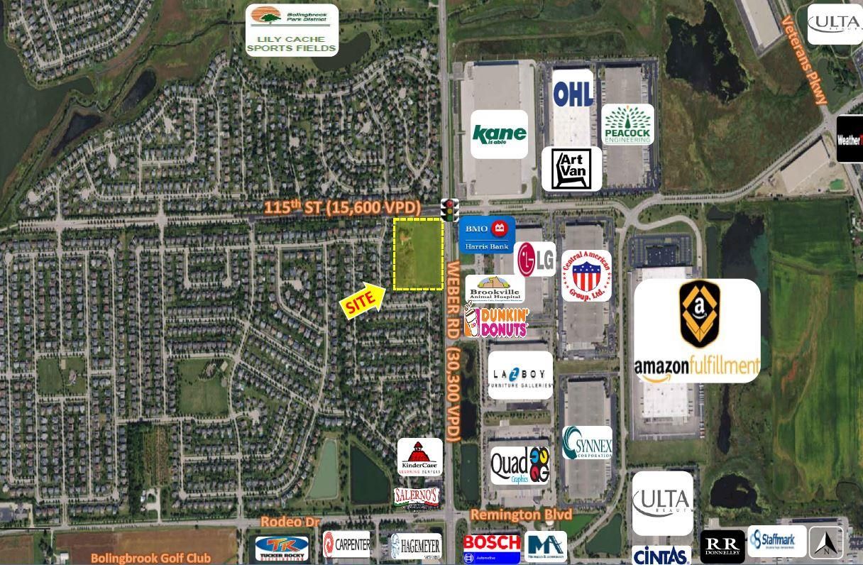 BOLINGBROOK HARD CORNER LAND PARCEL SITE