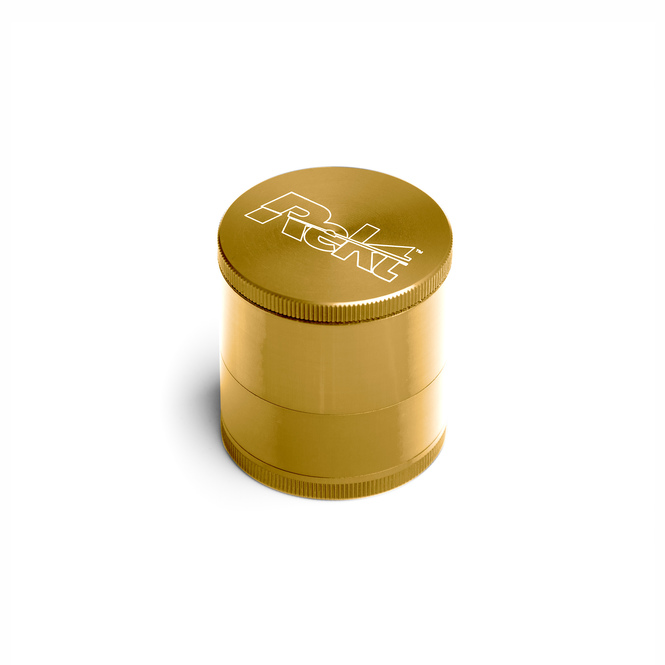 "Gold 4-Stage Toothless Grinder 2.2"" Diameter"