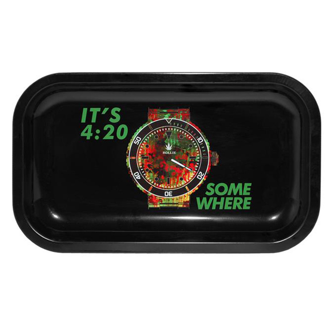 Rollie It's 4:20 Somewhere Medium Metal Rolling Tray