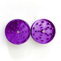 "Purple Two Piece Shredding Type Grinder With a 2.5"" Diameter"