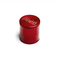 "Red 4-Stage Toothless Grinder 2.5"" Diameter"