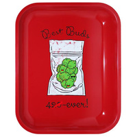 Best Buds 4 Ever Cute Large Metal Rolling Tray