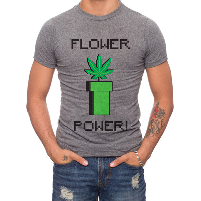 Flower Power T-Shirt 50% Coton/50% Polyester