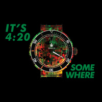 Rollie It's 4:20 Somewhere Small Metal Rolling Tray